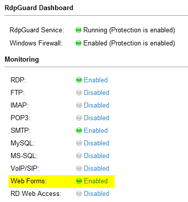 asp.net web forms protection enabled