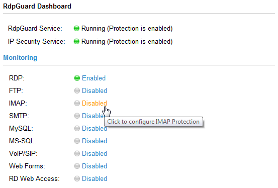 imap protection link