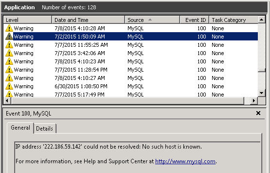 MySQL Server Brute-Force - How to Stop Dictionary-Based