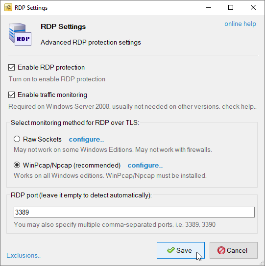 How to enable and configure RDP brute-force protection  RDP
